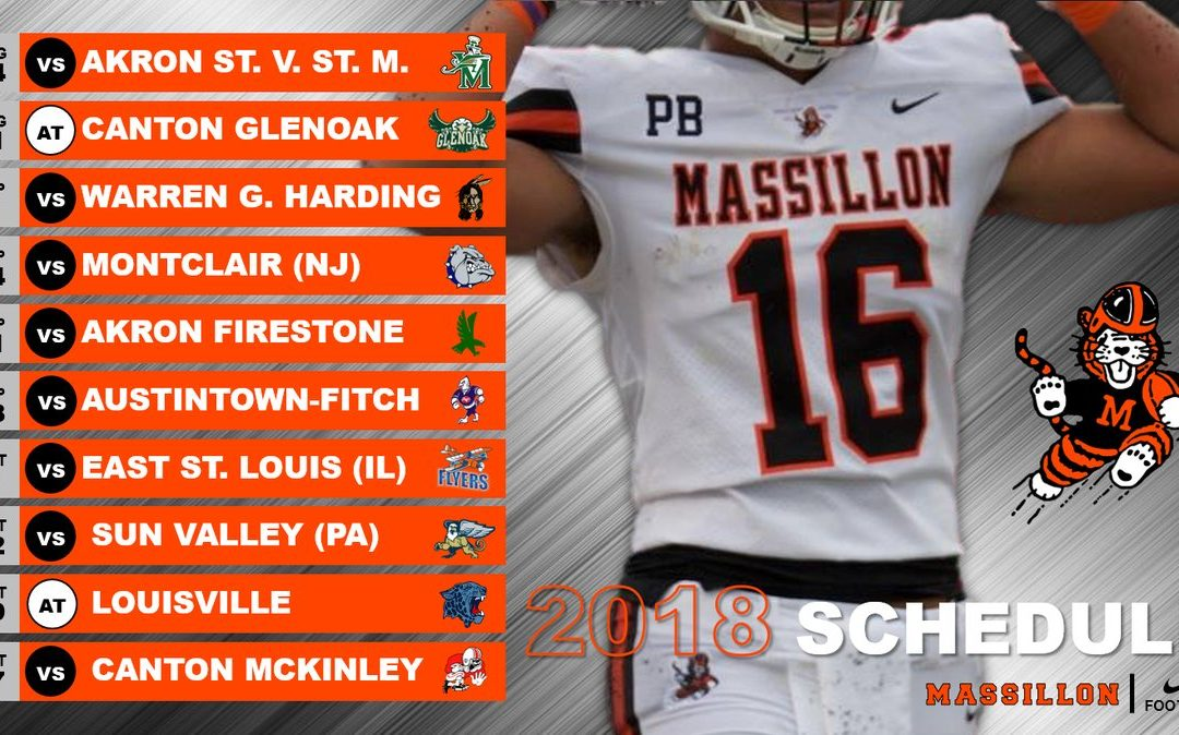 2018 Football Schedule Released